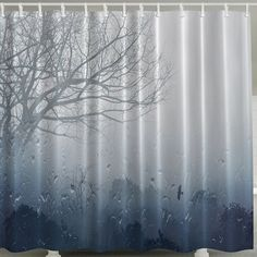 Waterproof Polyester Shower Curtain with Hook, COLORMIX in Shower Curtains | DressLily.com