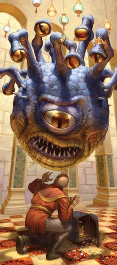 Article illustration for Dungeon magazine © Wizards of the Coast. The Xanathar Fantasy Monster, High Fantasy, Monster Art, Fantasy Rpg, Fantasy Artwork, Fantasy World, Cthulhu, Dungeons And Dragons, Dnd Monsters