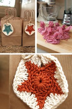 Cowboy Party Bags - crochet star patches :))