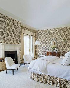 Gorgeous master bedroom. (Elle Decor) - via Interior Canvas