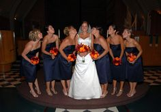 navy and orange wedding | Nick and Jennifer Wedding - The Knot