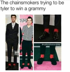 the ugly ass guy from the chainsmokers roasted tøp one time lol i don't listen to them anymore •-•