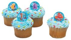 DecoPac Nemo and Friends Rings: 12 rings with 4 designs of Nemo and friends Safe for ages 0 and above Great for cupcake and cake decoration Party favor and goodie bag filler Finding Nemo Party Supplies, Cupcake Toppers, Cupcake Cakes, Cupcakes, Decorating Tools, Cake Decorating, Finding Nemo Fish, Friend Rings, Cake Supplies