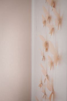 Three dimensional butterflies make for gorgeous wall decor.