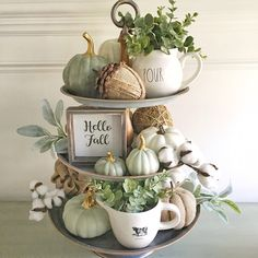 "As I unpacked my fall decor, I thought I'd take a shot at what I'd call a ""neutral"" fall tray. I know, I know. It still has color but for…"