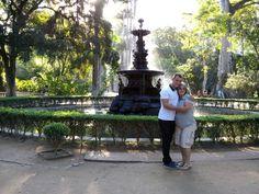 Rafael Wong e eu no Jardim Botanico, Rj.