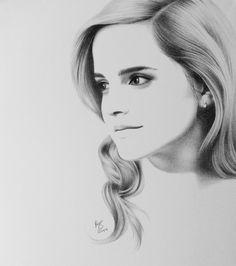 Emma Watson - gorgeous drawing