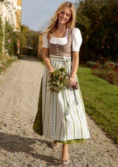 Traditional Bavarian Dirndl - charming