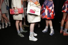 Backstage at Marc by Marc Jacobs Spring 2013