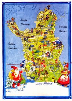 Lapland in Finland,map Christmas Village Display, Christmas Villages, Lofoten, Lapland Finland, Finland Map, Norway Map, Montenegro, Dollar Store Christmas, Diy Christmas