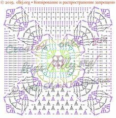 Реглан с рельефом • Мотив с листиками   Вязание крючком от Елены Кожухарь