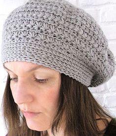 Crochet pattern Pdf- star stitch crochet beret.