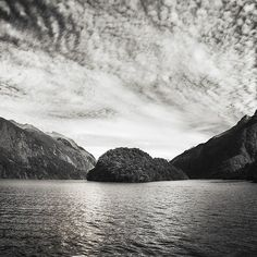 25% Wall Art: Use code DREAM25 Expires June 21, 2018, at 11:59 pm Adventure Cruise at Doubtful Sound in black and white