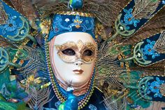 venetian carnival | Models pausing in costumes everywhere in Venice Carnival, Italy.