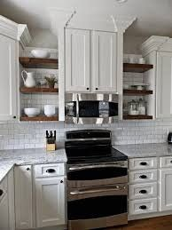 kitchen with shelves instead of cabinets | ... shelves instead of ...