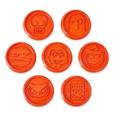 Halloween emoji cookie cutters....only available in October....want them free?