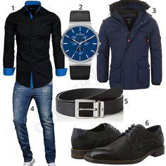Elegantes Herrenoutfit mit Hemd, Jeans und Schnürschuhen (m0839) #hemd #jeans #jacke #uhr #gürtel #outfit #style #herrenmode #männermode #fashion #menswear #herren #männer #mode #menstyle #mensfashion #menswear #inspiration #cloth #ootd #herrenoutfit #männeroutfit