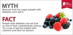 Thanks American Diabetes Association for sharing these helpful myths and facts.
