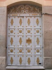 Beautiful white and gold door.