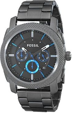 cb1e3162ee67 Fossil Machine Chronograph Black Dial Gun Metal Mens Watch FS4487 – Common  Shopping Fossil Watches For