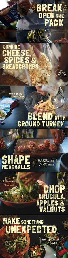 Savory Turkey Meatball Salad
