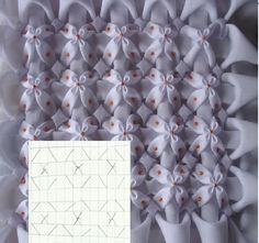 Embroidery Fabric Manipulation Smocking Tutorial 26 Ideas For 2019 Smocking Tutorial, Smocking Patterns, Sewing Patterns, Embroidery Fabric, Hand Embroidery Designs, Embroidery Stitches, Techniques Couture, Sewing Techniques, Canadian Smocking