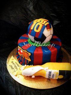 Barcelona theme  - Cake by Priscilla