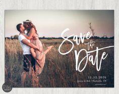 Save Date Foto Einladung / DIY / Postkarte von paperandinkdesignco