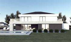 Projekt domu FX-31 257,31 m2 - koszt budowy - EXTRADOM Modern Family House, Architect House, Home Fashion, House Plans, 257, Mansions, Studio, Architecture, House Styles