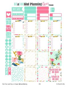 Free Printables | BEaYOUtiful Planning