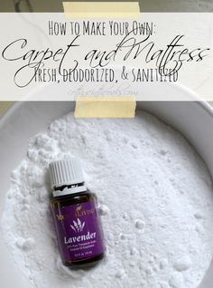 How to make your own carpet and mattress refresher with Young Living Essential Oils Lavender YL# 754946