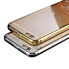 luxe plaqué cadre métallique ajoute transparente téléphone coque de recouvrement de pc pour téléphone 6 – EUR € 23.91