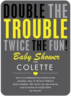 Make It Two - Baby Shower Invitations - Petite Alma - Charcoal Gray #baby