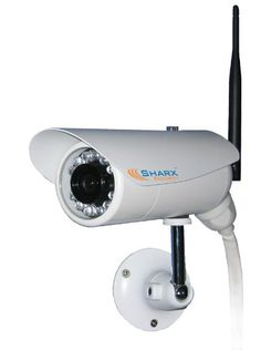 Black Friday 2014 Sharx Security High Definition Wired PoE and Wireless b/g/n Weatherproof Outdoor IP Network Camera with Infrared Night Vision and built in DVR from Sharx Cyber Monday Wireless Home Security Systems, Security Camera System, Security Surveillance, Surveillance System, Security Cameras For Home, Camera Surveillance, Bullet Camera, Ip Camera, Home Monitoring System