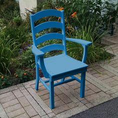 Outdoor A & L Furniture Ladderback Poly 3 Piece Round Patio Bistro Set - ALF316-28