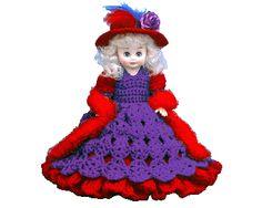 "7140 Crochet Bed Doll Pattern 13"" REENA"