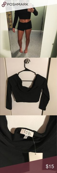 Off the shoulder top Size small black off the shoulder top from Tobi Tobi Tops Tees - Long Sleeve