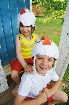 Huhn aus Pappmaché