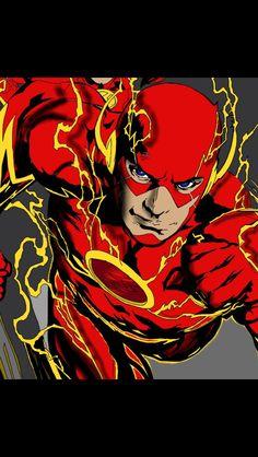 The Flash done on iPad The Flash, Ipad, Joker, Graphic Design, Comics, Fictional Characters, Art, Art Background, Kunst