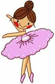 Risultati immagini per bordados en formato pes gratis Free Machine Embroidery Designs, Applique Patterns, Applique Designs, Embroidery Applique, Drawing For Kids, Art For Kids, Little Ballerina, Easy Drawings, Baby Quilts