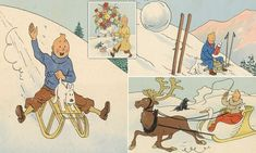 Original drawings by Tintin cartoonist Hergé set to sell for £2.2m