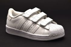 on sale 5c077 78907 ADIDAS SUPERSTAR B25727 BIANCO Bambina Bambino Sneakers Strappi Scarpa Pelle