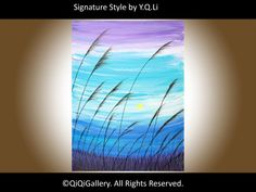 Art Abstract Painting Landscape Painting Original por QiQiGallery
