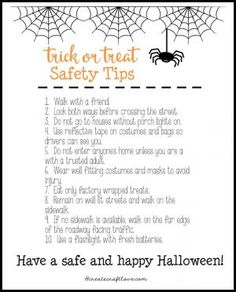 halloween traditions printable - Halloween Safety Printables