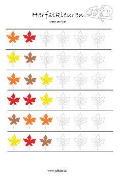 jufeline Rekenen Onderbouw Pre Reading Activities, Early Childhood Activities, Learning Games For Kids, Fall Preschool Activities, Preschool Printables, Primary School, Pre School, Math Patterns, Preschool Coloring Pages