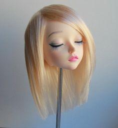 Feeple60 fairyland sd wig blonde long bob no bangs handmade