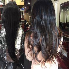 "Clark Le on Instagram: ""Black box color to natural highlights balayage!! Looking beautiful . #clarkleglam #behindthechair @behindthechair_com @modernsalon @american_salon @imallaboutdahair #asianhair"""