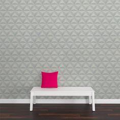 Osez l'effet 3D avec l'intissé SPLIT !   Ce parfait trompe-l'oeil apporte du relief à vos murs, en misant sur un style graphique chic. Sa couleur blanche et son motif géométrique donnent de la profondeur et du caractère à votre espace.   Ce papier peint crée une ambiance urbain design, résolument tendance et originale !