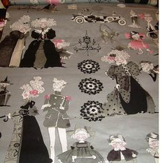 Ghastlie Family reunion by Michael Miller fabric Last by SusyBs Pattern Recognition, Michael Miller Fabric, Cool Fabric, Scale, Goth, Victorian, Boutique, Halloween, Color