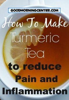Diet Tips Eat Stop Eat - How To Make Anti-Inflammatory Turmeric Tea! Herbal Remedies, Health Remedies, Natural Remedies, Kombucha, Healthy Drinks, Healthy Eating, Breakfast Healthy, Healthy Detox, Detox Drinks